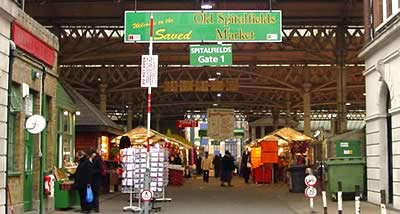 Image of the Spitalfields Market eateries