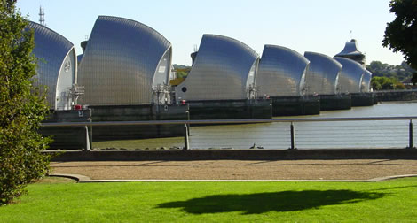 Image of the Thames Barrier