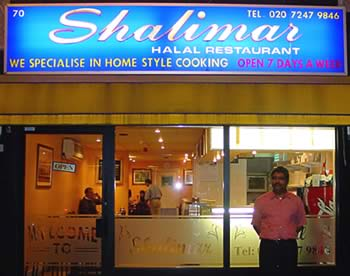 Image of the Shalimar Restaurant eateries